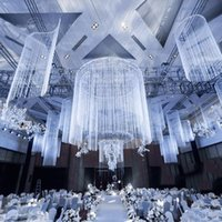 Arrival Upscale Wedding Ceiling S- shaped Line Curtain Weddin...