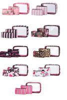 Портативные косметические комплекты PVC косметики в 3шт. Открытый водонепроницаемый стильный макияж сумок набор набор настроек заводские прямые поставки ювелирных изделий хранения мешочек бесплатный DHL корабль