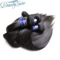 Beautysister 머리 100 % 처리되지 않은 페루 버진 헤어 스트레이트 레미 인간의 머리카락 묶음 도매 10 번들 1kg 거래 자연 색상