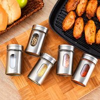 Glass Spice Sauce Storage Jar Seasoning Herbs Container Cond...