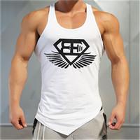 Stringer Musculação Esporte Camiseta Impresso Regatas Colete Em Execução Colete Homens Fitness Sem Mangas Camisola Ginásio Top Homens Pano