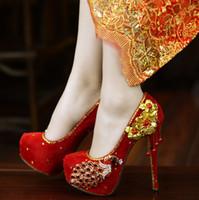 Красное свадебное платье обувь ручной работы роскошные свадебные горный хрусталь Diamante дешевые шпильки большой маленький размер 34 до 40 на заказ цвет или размер