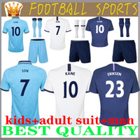 costume adulte New 19 20 Spurs enfants Kit maison blanche loin de football bleu 2019 2020 Tottenhames Kane Son Eriksen Dele Lucas enfant camiseta