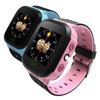 GPS Barn Smart Watch Anti-Lost Flashlight Baby Smart Wristwatch SOS Call Plats Enhet Tracker Kid Säker vs Q528 Q750 Q100 Q42 DZ09 U8