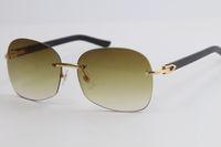الجملة بدون إطار 8100908 الأسود بلانك الذهب الإطار المعدني النظارات الشمسية الأزياء عالية الجودة الذكور والإناث الساخن المتضخم النظارات الشمسية