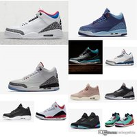 c751d664b9b18d New Arrival. Cheap new 2018 womens Jumpman 3 basketball shoes 3s Quai 54  White Black Cement Red kids boys girls aj3 sneakers boots j3 with box