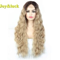 Joy&luck Long Lace Front Wig Afro Kinky Curly Synthetic Wigs...