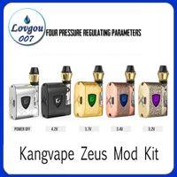 100% оригинал Kangvape Zeus Mod Kit 450 мАч Vape Box Предварительный нагрев VV Батарея переменного напряжения 0.5 мл Керамическая катушка K3 Толстый масляный картридж Аутентичные