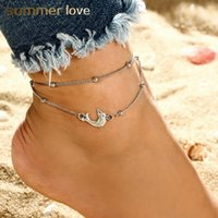 9c71be450e2 New Arrival. New Bohemian Silver Beach Lady Vintage Dolphin Beaded Anklets  Bracelet for Women Adjustable ...