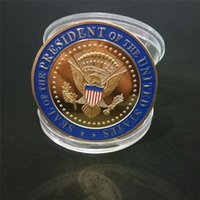 Donald Trump Coinmorative Coin American President Badge 2020 General Election Gold Coins Collezione metallica Collezione metallica Regalo Consegna veloce