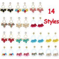 CA Fashion Boho Quaste Shells: Bunt Ohrringe baumeln Tropfen Fringe 14 Farben