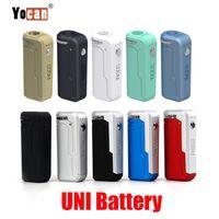 오리지널 Yocan UNI 박스 모드 650mAh 예열 VV 배터리 510 가지 색상의 Vape 배터리 용 예열 카트리지 Ecig Mods 100 % 정통
