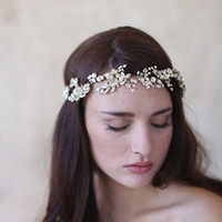 US Warehouse Barock Rhinestone Bridal Hairband Crown Hair Smycken Tillbehör Guld Silver Pearl För Kvinnor Prom Party Bröllop Headpiece Tiaras
