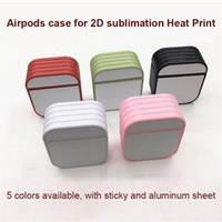 Transferência de Calor Printing Case for AirPods 1/2 AirPods Pro caso para 2D Sublimation Printing com folha de alumínio família presente DIY personalizado