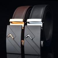 320dc1e12df Wholesale belts for sale - New Mens Fashion Automatic Buckle Leather Luxury  Man cinturones hombre Black