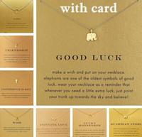 Avec carte! Très mignon! Collier Dogear couleur argent et or avec pendentif différent, éléphant / triangle / karma / aile d'ange