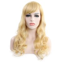 Hot selling fashion long hair wig 24 inch blonde loose wave ...