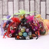 Borsa dei gioielli a farfalla 9x12cm organza gioielli imballaggio di imballaggio dei monili sacchetti per bracciale orecchini perline