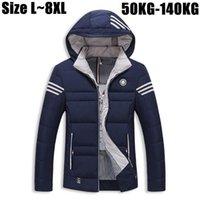 All'ingrosso 6XL 7XL 8XL inverno spesso uomini giacca calda giacca parka uomo 2016 Brand-Capispalla cappotti Windbreaker Men