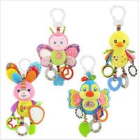 Cuna animales de juguete de conejo cochecito de niños cama alrededor de felpa colgante de dibujos animados lindo de Bell del traqueteo Actividad bebé suave Partido niños de juguete TL1205 regalo