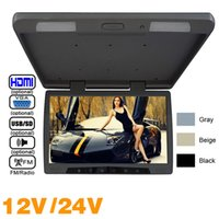 Auto Bus TFT LCD Dachmontage Monitor Flip Down Monitor Video DC12V / 24V 19
