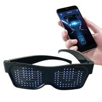 يتوهم LED تضيء نظارات، RechargeableWireless USB مع وميض الصمام العرض، متوهجة مضيئة نظارات لعيد الميلاد، حزب