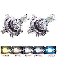 2 adet 8000Lm H11 H8 LED araba ışıkları LED ampuller 9005 HB3 9006 HB4 beyaz gündüz farları DRL Sis ışık 6000 K 12 V sürüş lambası