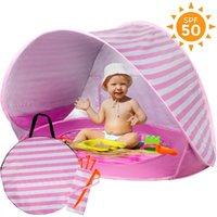 Bewegliches Baby-Strand-Zelt wasserdicht Zelt Outdoor-Camping-Sonnenschutz UVschutzsun Shelter mit Mini-Pool für Säuglings-