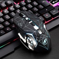 ماوس لاسلكي متوهجة الفأر مع بصري 2.4G استقبال 2400DPI الصامت ماوس لاسلكي للكمبيوتر PC أجهزة الكمبيوتر المحمول سطح المكتب دي إتش إل الحرة