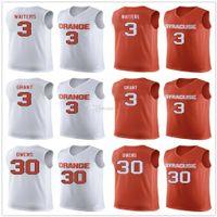 Syrakus Orange College # 3 Dion Kellner Basketball Trikots Jerami Grant # 30 Billy Owens Mens Nähte benutzerdefinierte Nummername