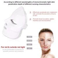 7 цветов красоты терапии фотонов светодиодная лицевая маска для лица, легкая уход за кожей омоложение морщин уклон угреватся лицо красоты спа