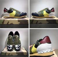2020 الأزياء والأحذية رصع التمويه احذية كومبو روك الأحذية الرجال النساء شقق Rockrunner المدربين أحذية عارضة