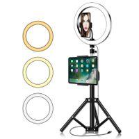 10inch Cercle Annulaire avec trépied Big téléphone pour Appareil Photo Ipad Photo Professional éclairage pour le maquillage Vidéo Youtube