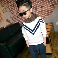 Winter Warm Boys Long Sleeve Sweartshirts Plus Velvet T Shir...