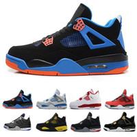 sports shoes 364eb 3dd6a Nuovo Arrive. nike air jordan aj4 retro Alta qualità 4 Nuovo Bred White  Cement Puro Pallacanestro Scarpe da ...