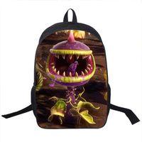 Chomper backpack Plants vs Zombies day pack PVZ game school bag بارد packsack صور الظهر الرياضة المدرسية في الهواء الطلق daypack