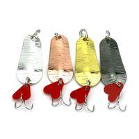 Рыболовная ложка приманка 5 см 8.3 г 6 # крючки спиннер снасти жесткие приманки рыболовные приманки троллинг один крючки бесплатная доставка