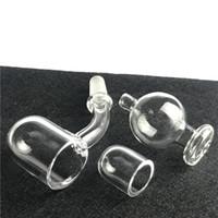 62mm 3mm al quarzo al quarzo rotondo a bangeer unghie con narghilè smussato top downless inserto in vetro tappi di carboidrati in vetro pergamici per unghie inserisce il cappuccio
