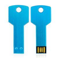 HACKIST® Metal Anahtar USB Flash Sürücü 32 GB 64 GB 16 GB 8 GB 4 GB 2 GB 1 GB USB Kalem Sürücü Memory Stick (Mavi)