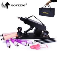 MOVKING Sex Machine Female Masturbation Насосное пистолет с 6 Фаллоимитаторы Приложения Автоматическая Любовь Машины для женщин в комплекте сумка