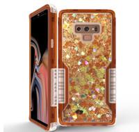 Ударопрочный Luxury Liquid Quicksand телефон Дело блеск Bling задняя обложка чехол для телефона Iphone 11promax 8Plus для Самсунга S20P