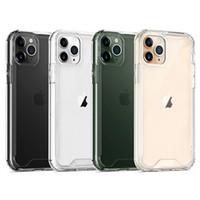 Acrylique Téléphone cas avec TPU Bumper pour iPhone 11 Pro Max 8 SE LG 6 K41S K51 Stylo K61 antichocs Téléphone cellulaire couverture