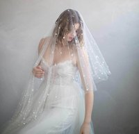 Twigs & Honey Bridal Veils With Cut Edge Fingertip Length Pe...