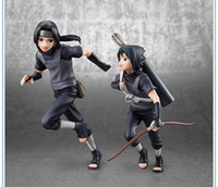 ht 2pcs set 18cm Naruto Uchiha Sasuke Uchiha itachi action figure PVC toys collection doll anime cartoon model for friend gift
