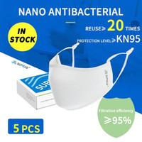 Reuseable نانو قناع الوجه واقية قناع إعادة استخدام 100 مرة الحماية من الغبار أقنعة مضاد للجراثيم قابل للغسل القطن PM2.5 مع صمام