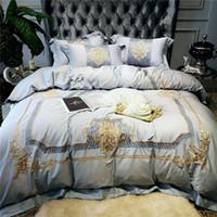 الفاخرة التطريز الملكي 80 ثانية المصرية القطن الفراش مجموعة الملكة الملك الحجم حاف الغطاء السرير الكتان ورقة السرير سادات