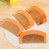 Mini peigne cheveux en bois portable anti-statique massage Scalp acajou Peigne Opp Sac emballage individuel Livraison rapide