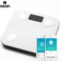 Sdarisb Piso de Escala de Gordura Corporal Científico Eletrônico Inteligente Levou Peso Digital Banheiro Balanço Bluetooth App Android Ou Ios