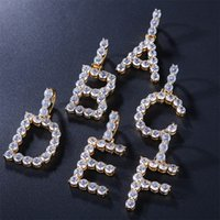 Zircon Bling Letters Necklaces & Pendant Custom Name Charm F...