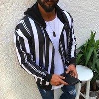 Hoodies Art und Weise Striped Dickes Fleece Langarm-Kapuzenpulli 19AW Herren Jacken beiläufige Mens-Designer